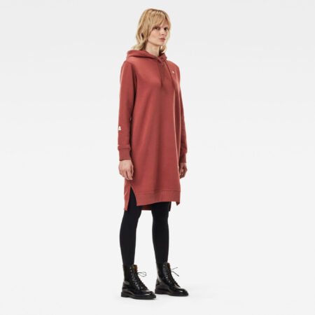 Aanbieding G-Star RAW - The Graphic Text Boyfriend Hooded Sweater - Rood - Dames - 8719771893316